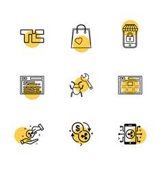 Tech crunch shopping bag lockes website bug vector