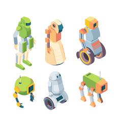technological robots helper future isometry set vector image