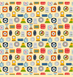 timer clocks seamless pattern vector image