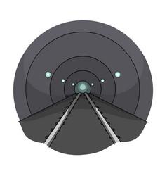 Tunnel single icon in cartoon styletunnel vector