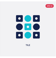 two color tile icon from geometric figure concept vector image