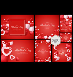Valentines day poster sale discont card vector
