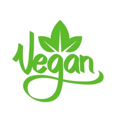 Vegetarian green text vector image