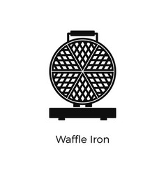waffle iron flat icon appliance vector image