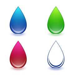 Water Drop Collection vector