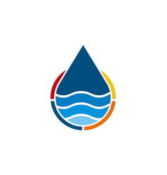Water solution logo design template vector