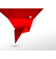 Abstract red origami speech background vector image vector image