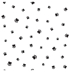 Animal footprints seamless background vector image