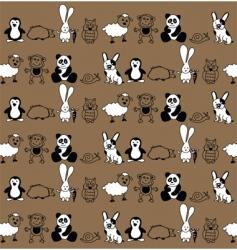 animals pattern vector image