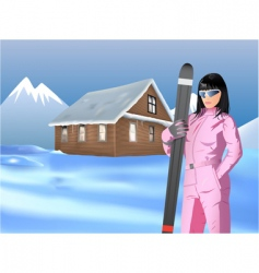 skiing vector image vector image