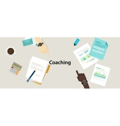 business coaching professional management training vector image