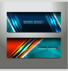 header banner design vector image