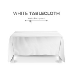 white table with tablecloth empty 3d vector image