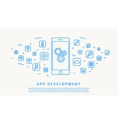app development thin line design vector image vector image