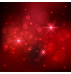 Bokeh red background vector image vector image