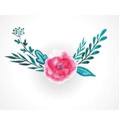 rose watercolor vector image vector image