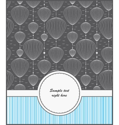 template cards for gifts and postcards vector image