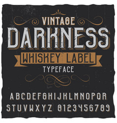 Vintage darkness whiskey poster vector