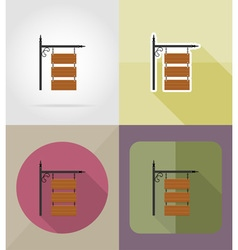 wooden board flat icons 11 vector image vector image
