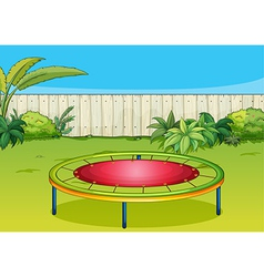 A trampoline vector image