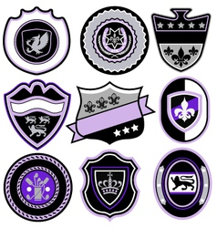 classic sport emblem badge set vector image