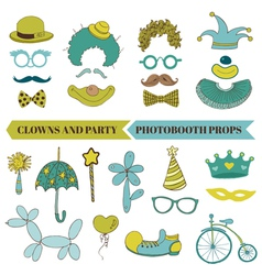 Clown and Party - Photobooth Set vector image