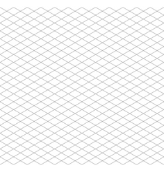 Gray isometric grid seamless pattern vector image vector image