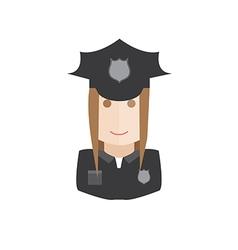 policewoman avatar vector image