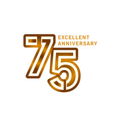 75 years excellent anniversary template design vector