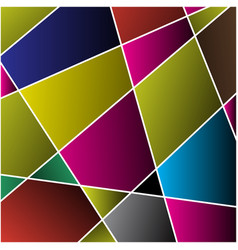 Abstract - colored stained glass mosaic vector