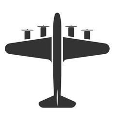 Airplane symbol or aircraft black icon travel vector