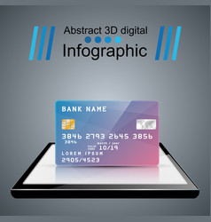 bank card smartphone digital gadget icon vector image