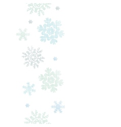 Blue Christmas Snowflakes Textile Texture Vertical vector image