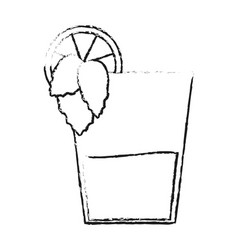 blurred silhouette glass cup of cocktail with vector image vector image