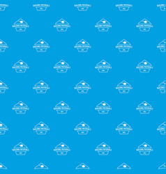 Building materials pattern seamless blue vector