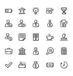 Business doodle icons 2 vector