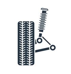 car suspension service wheel alignment icon vector image