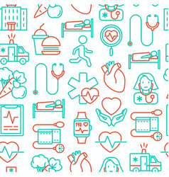 Cardiology seamless pattern vector