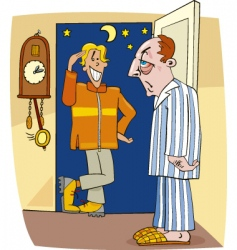 Cartoon night visitor vector