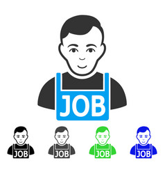 cheerful jobless icon vector image