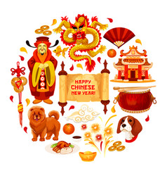 Chinese new year china decorations poster vector