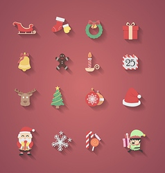 Christmas icon flat design vector