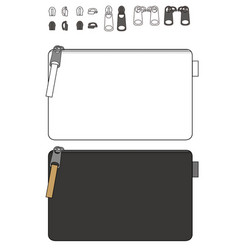 Clutch design flat sketches template vector