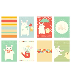 Collection of springtime banner vector