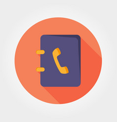 contacts book icon vector image