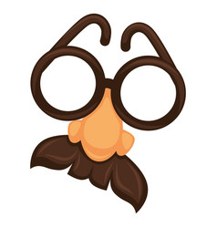 croucho funny mask with glasses and norse vector image