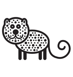 Cute animal leopard - vector