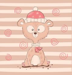 cute funny cartoon bear characters vector image