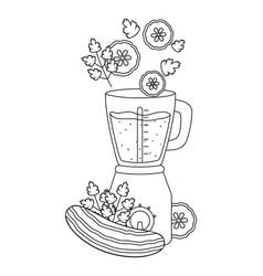 Delicious healthy smoothie cartoon vector