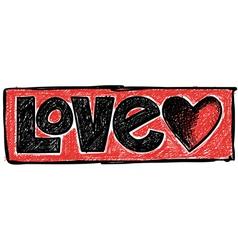 Doodle Love vector image